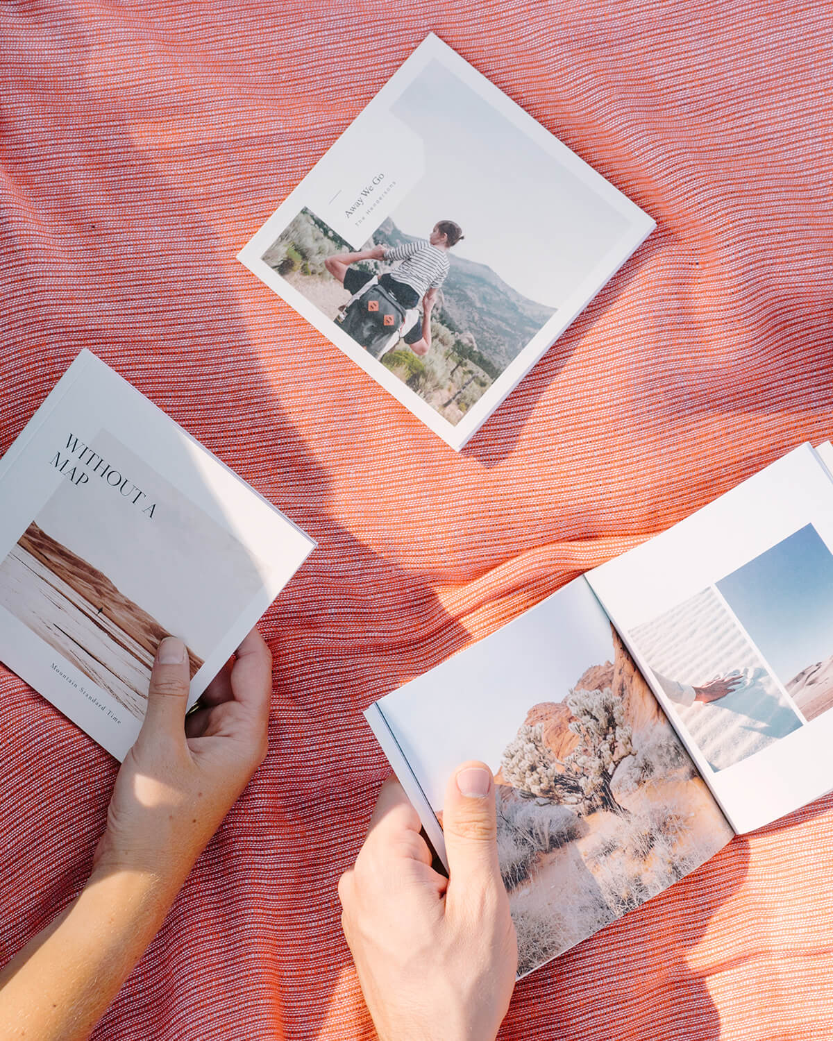 softcover photo book with travel photography