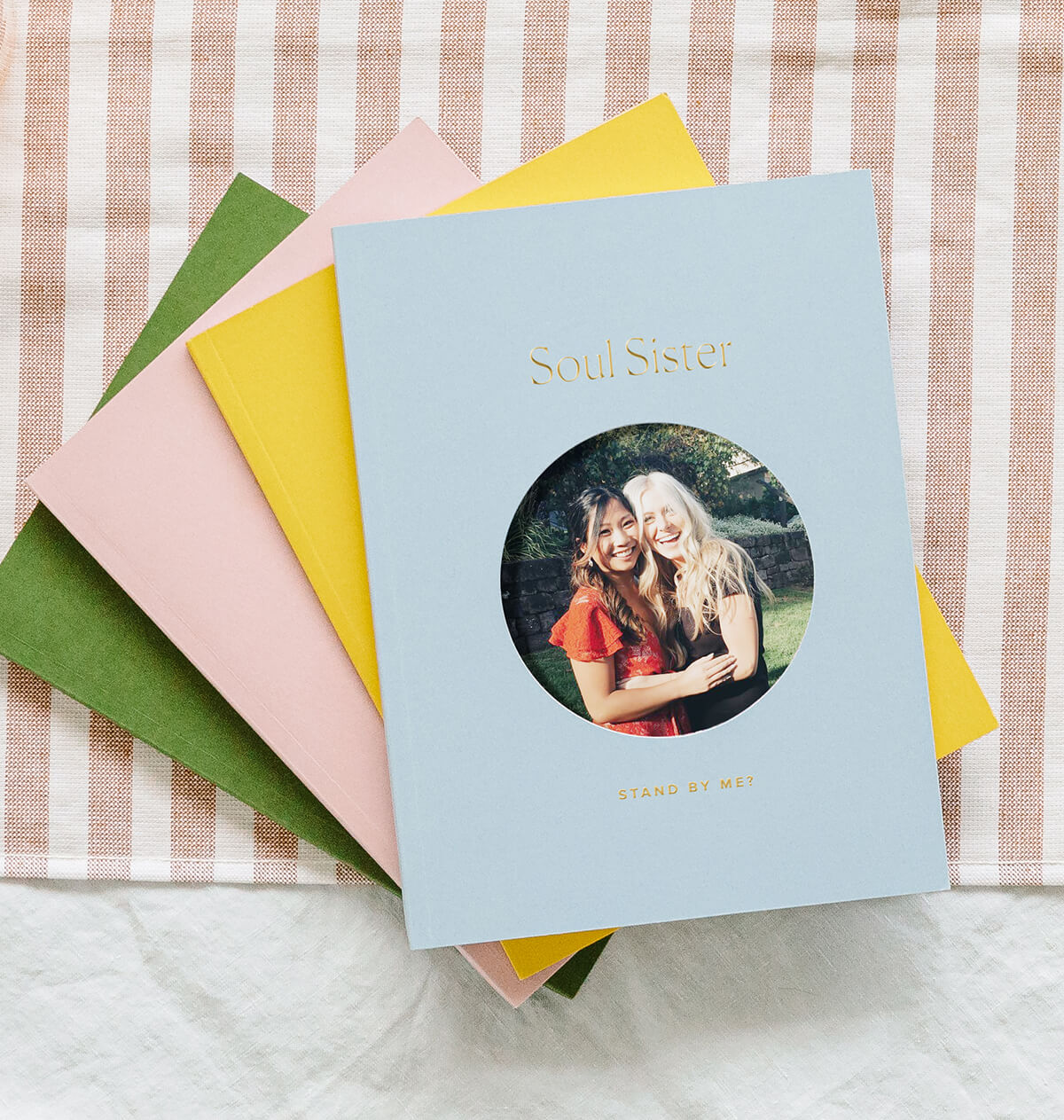 Artifact Uprising Color Series Photo Book used by bride to ask friend to be her maid of honor