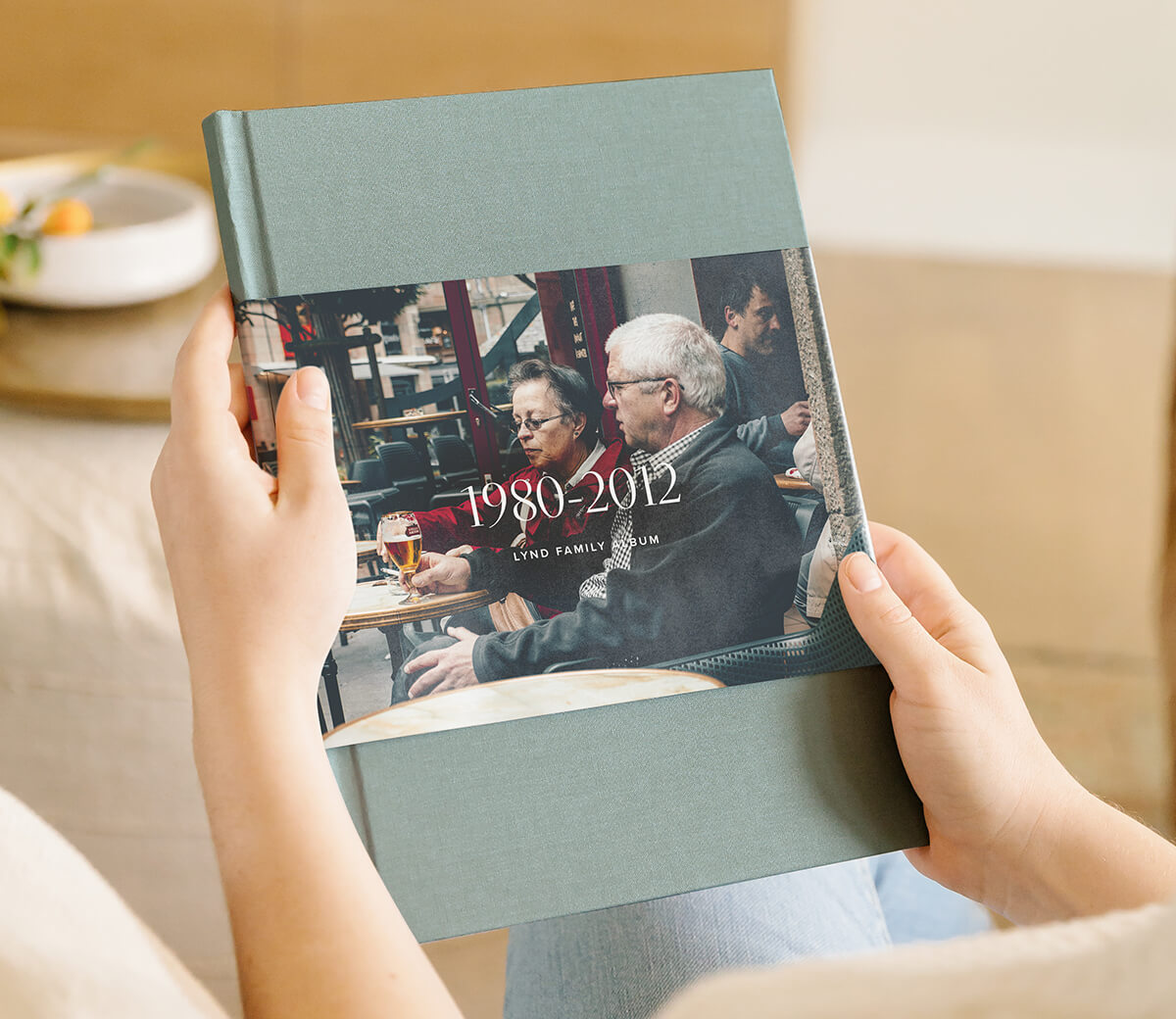Family history book printed on Artifact Uprising Hardcover Photo Book