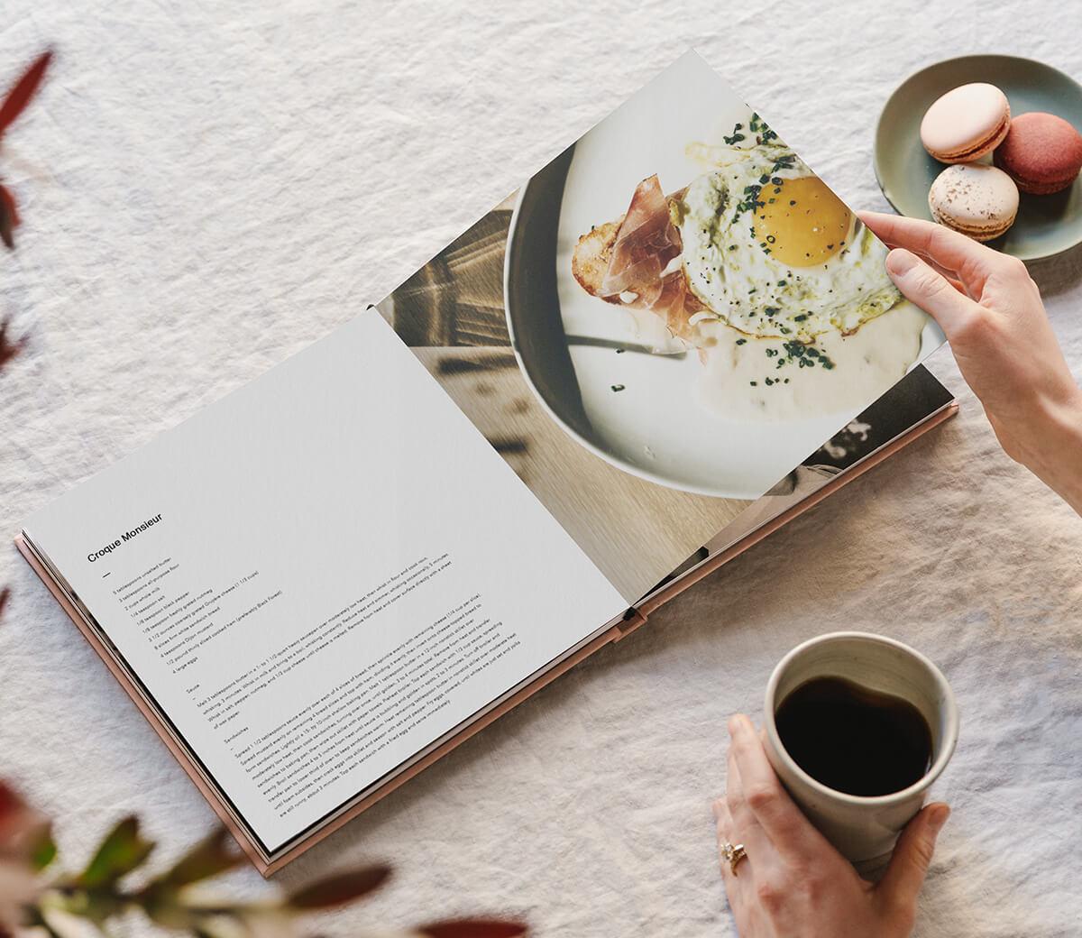 Cookbook printed on Artifact Uprising Layflat Photo Book