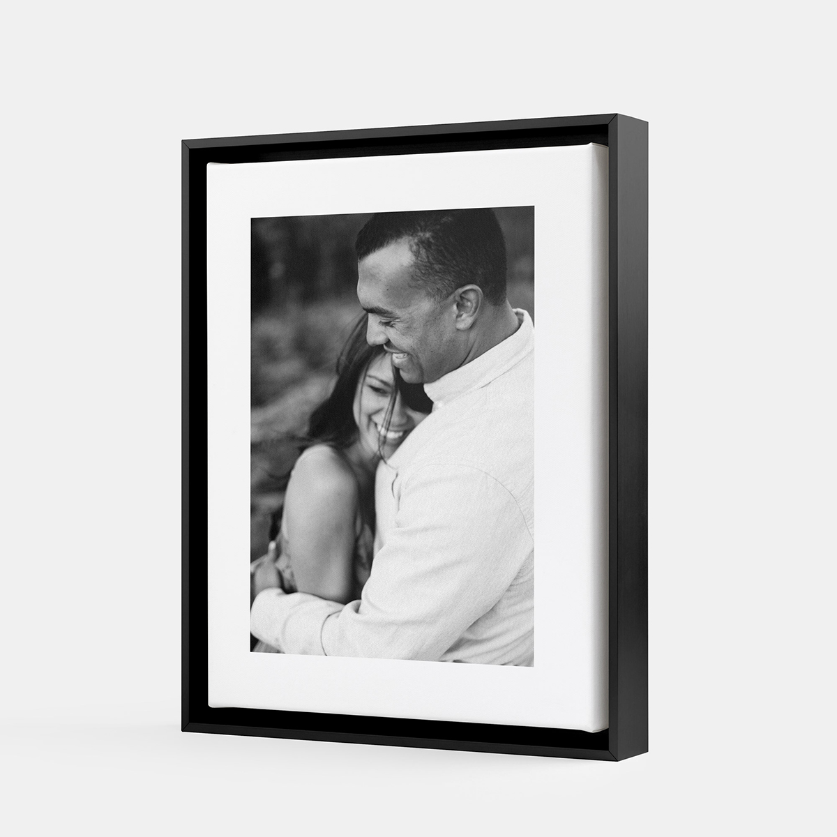 Framed Canvas Print of a wedding photo printed by Artifact Uprising