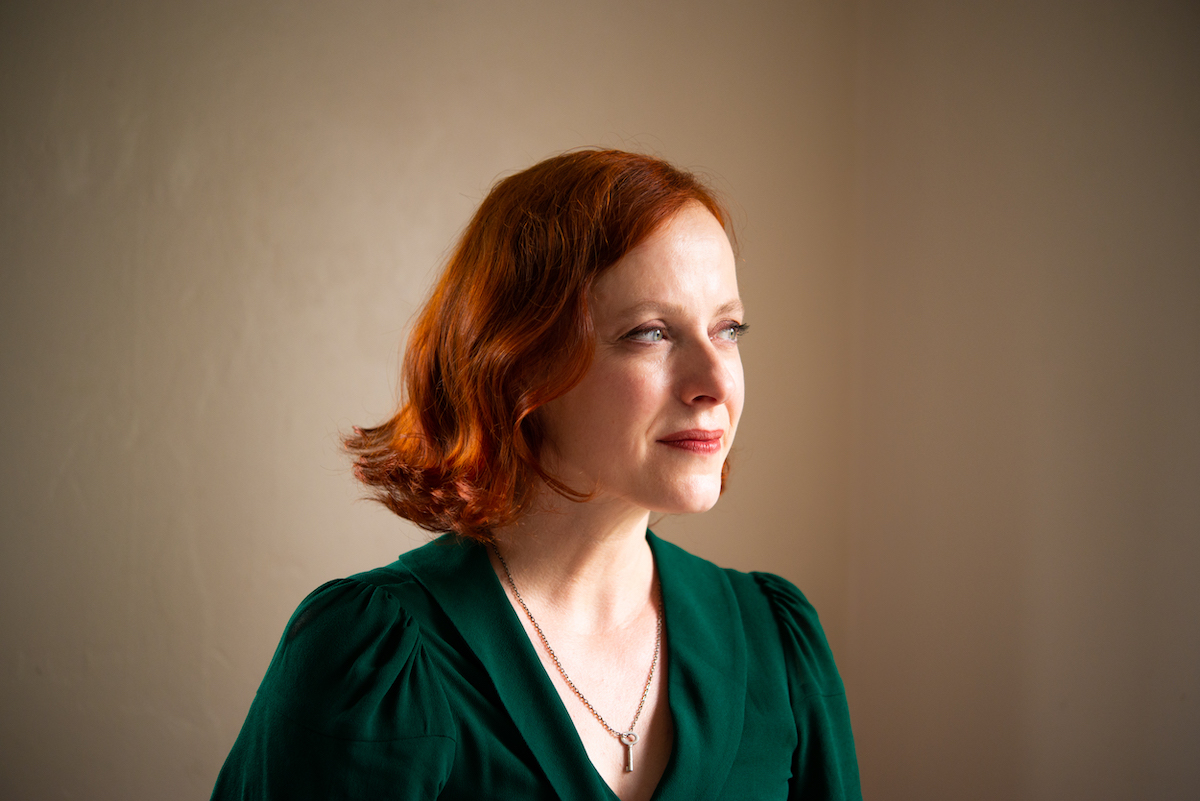 Portrait of redheaded woman