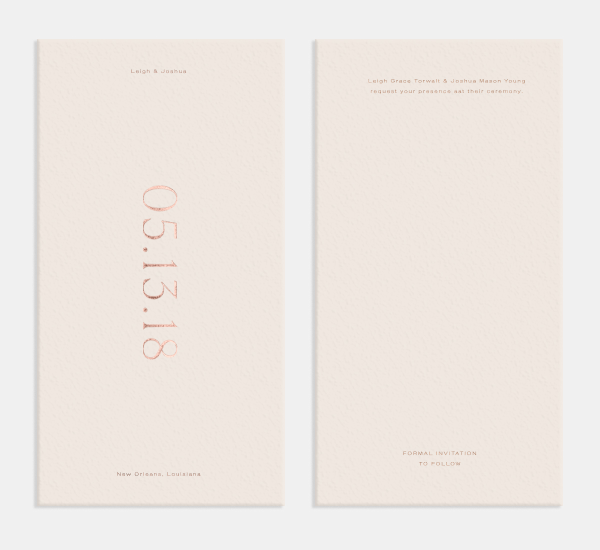 Letterpress Pronounced Save the Date Card by Artifact Uprising
