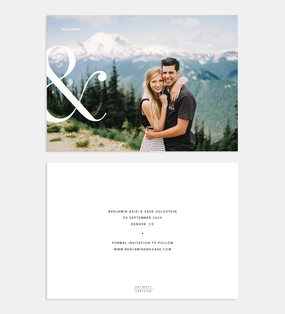 Ampersand Save the Date Card by Artifact Uprising