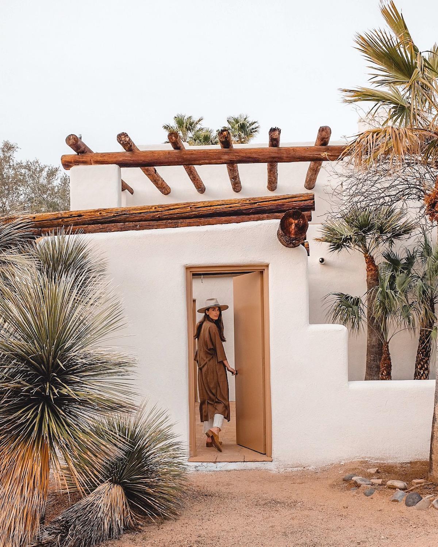 Sara Combs entering The Joshua Tree House