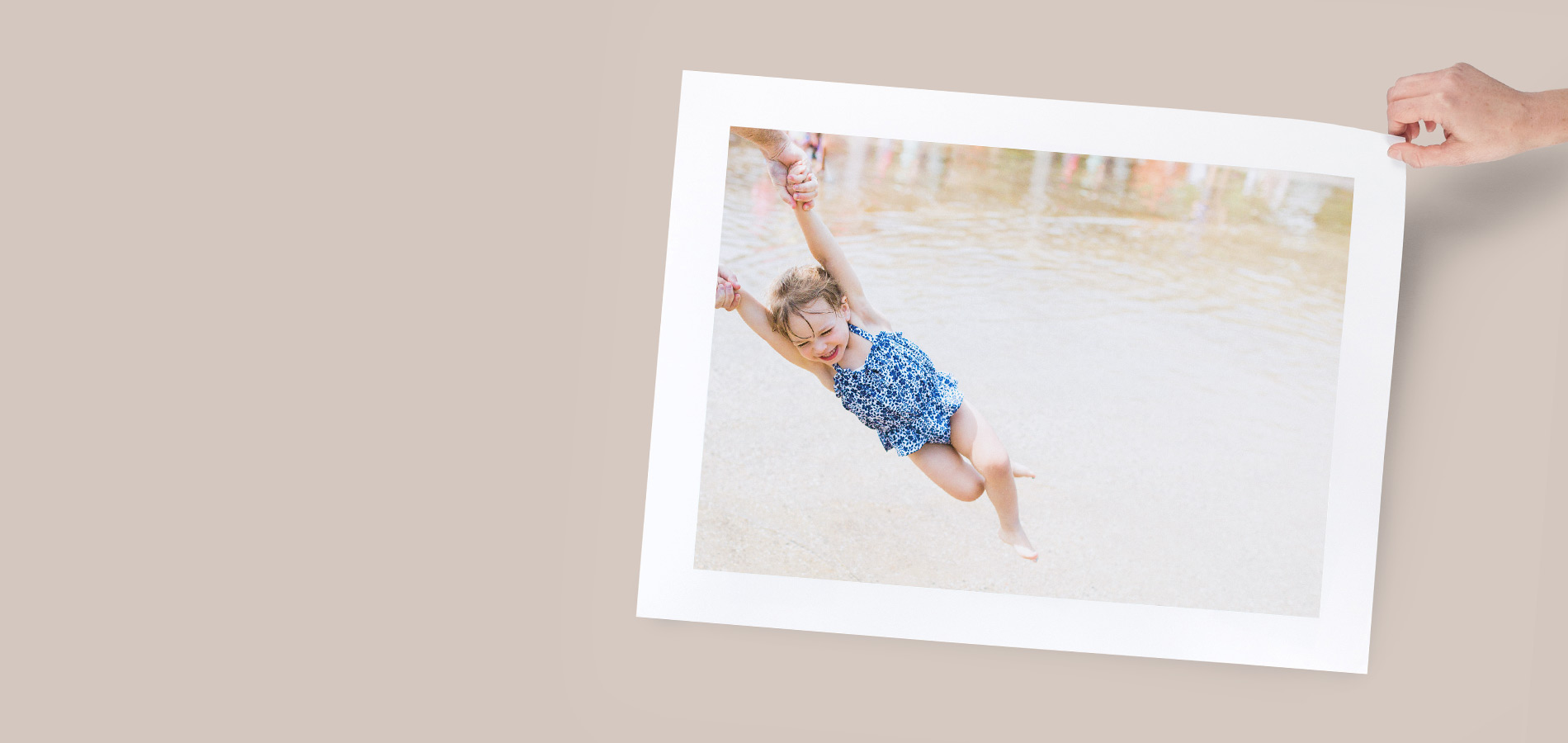 Enlarged photo of little girl laughing