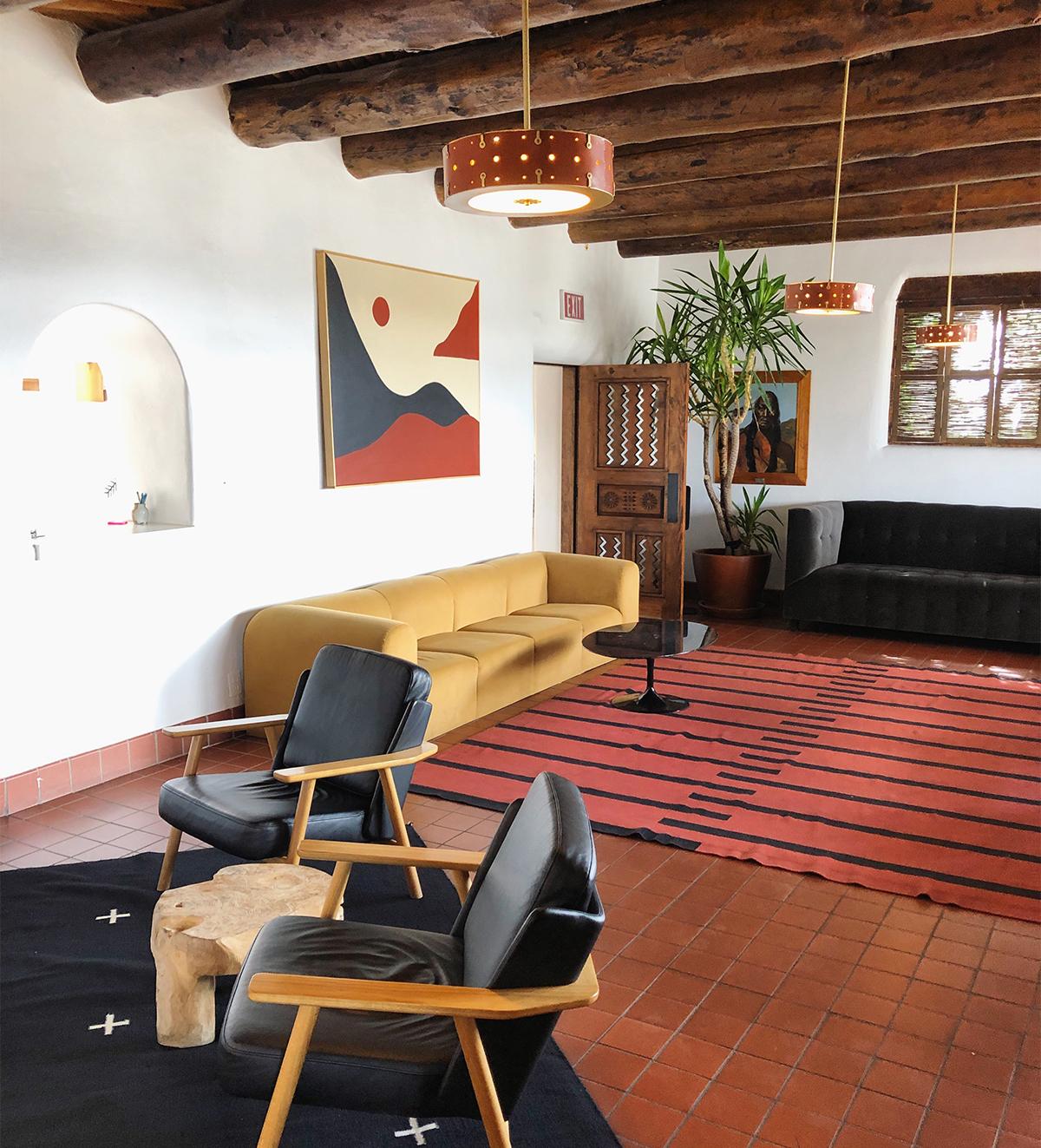 Photo of minimalist common area at El Rey Court
