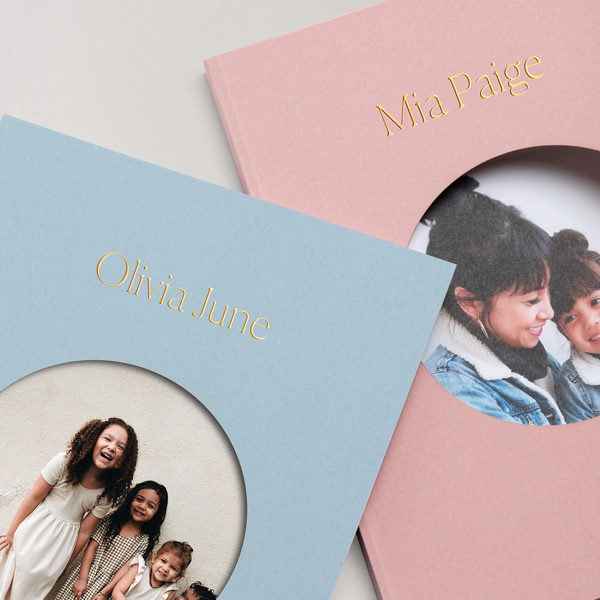 Color Series Photo Books with names and photos of children on covers