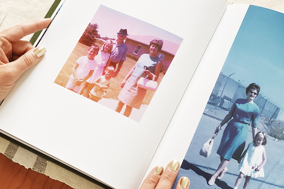 old photos scanned into a photo book