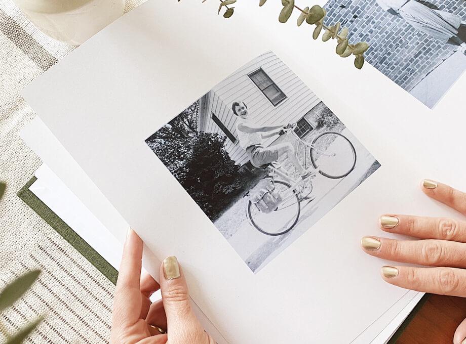 old photos in a photo book