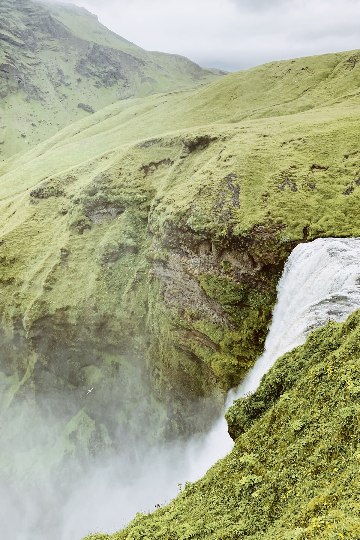 Photo by Barrett Brynestad of Icelandic waterfall