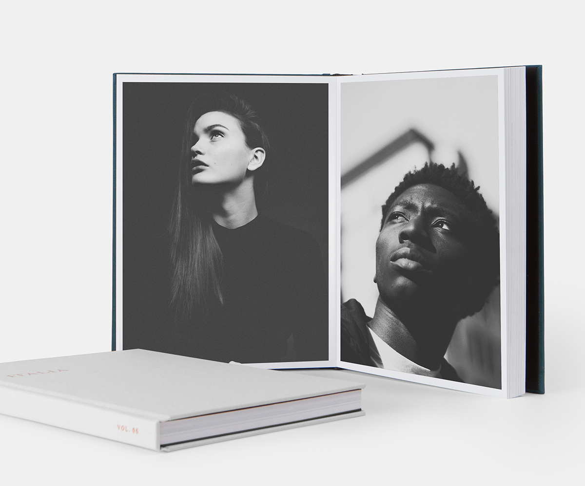 Artifact Uprising Layflat Photo Album printed as portrait photography portfolio