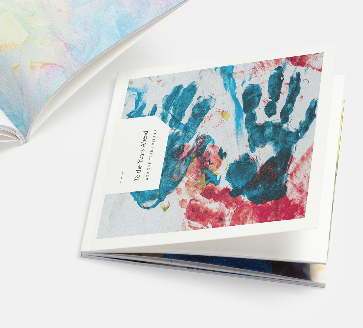 Artifact Uprising Softcover Photo Book filled with children's artwork