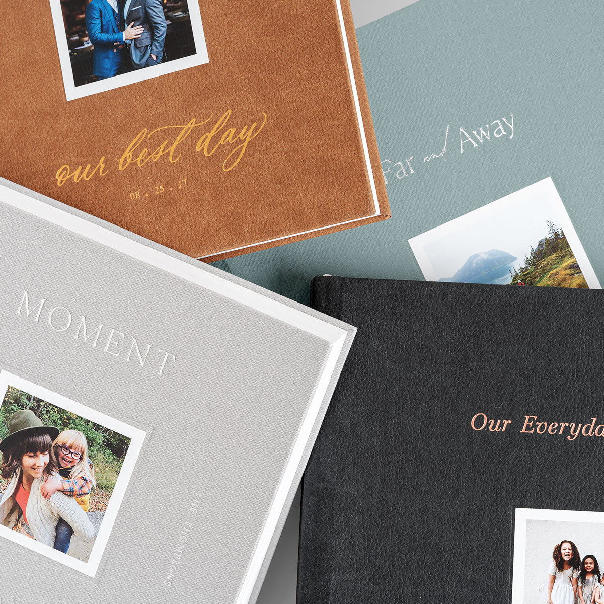 Customizable photo book cover templates