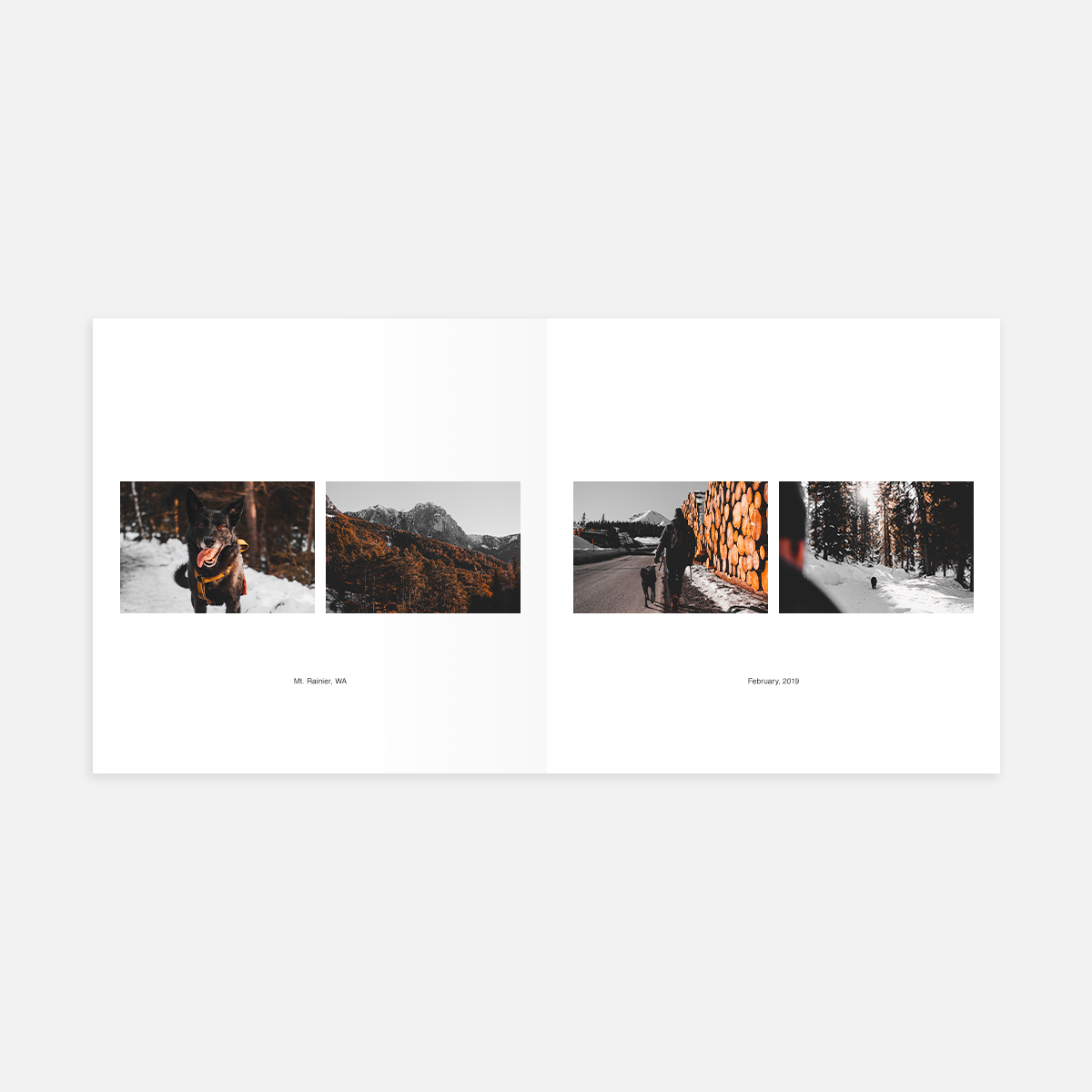 Duo Landscape with Caption layout in Color Series Photo Book