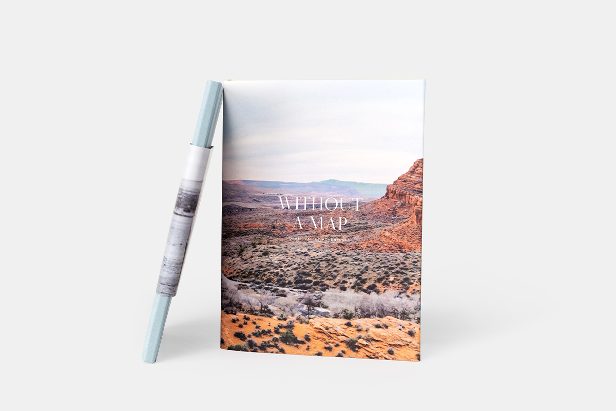 Hardcover Travel Photo Book with photo of Moab on the cover