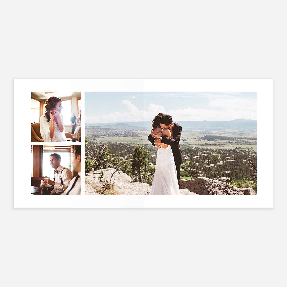 Duo Square Large Landscape layout in Wedding Layflat Album