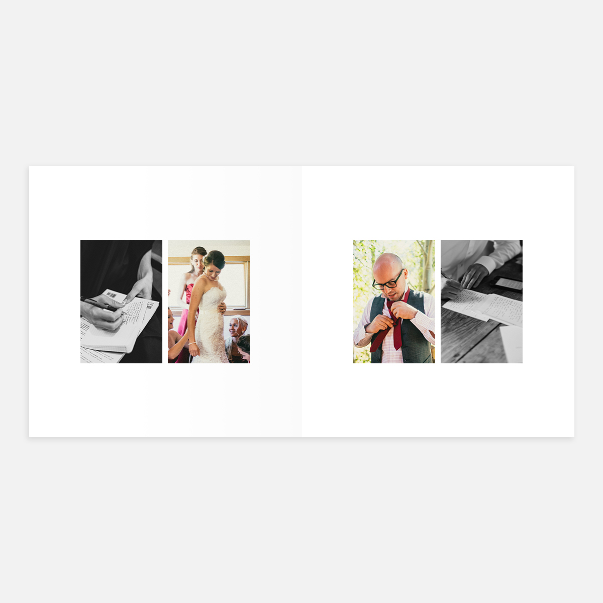 Duo Portrait layout in Wedding Layflat Album