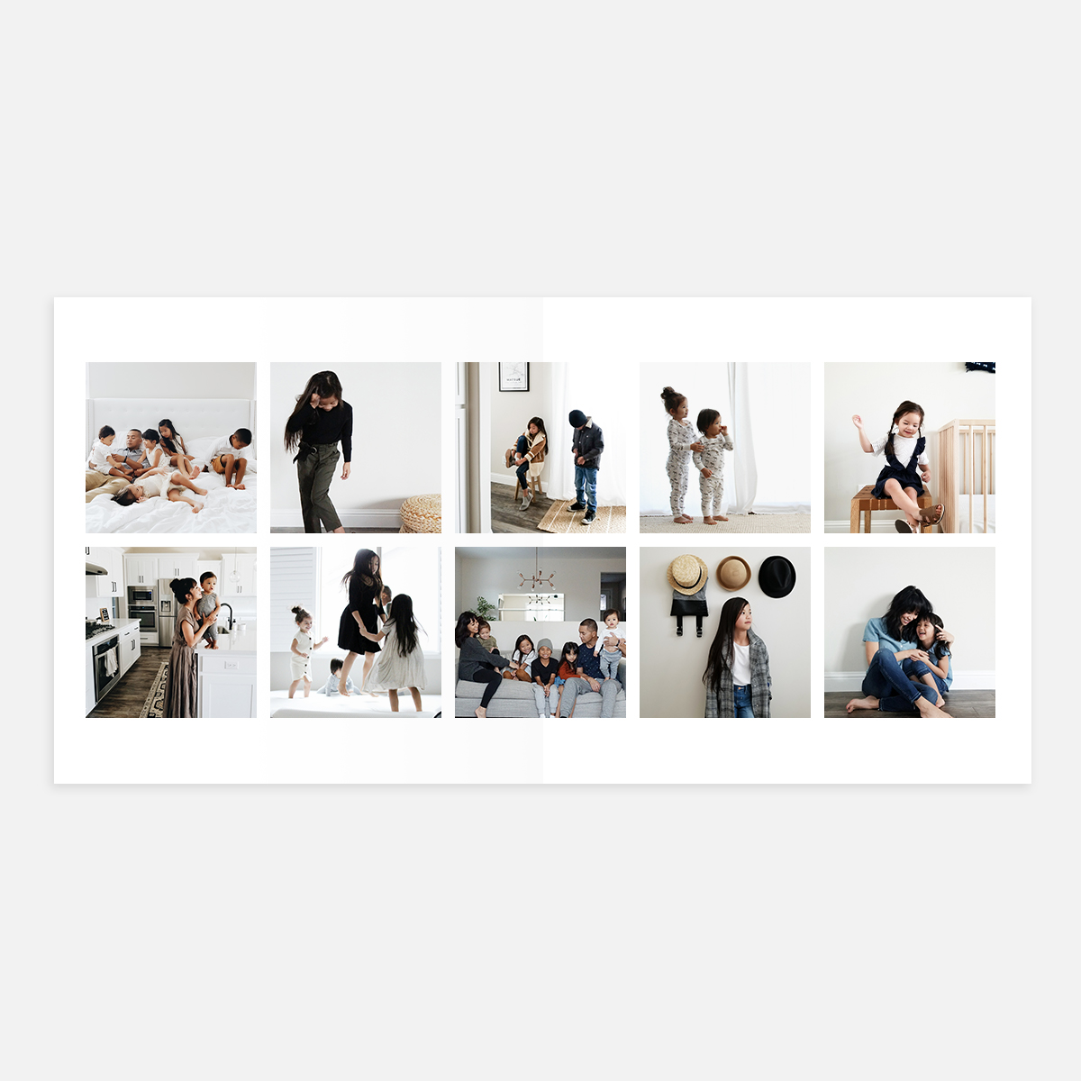 10 photo strip layout in Signature Layflat Album
