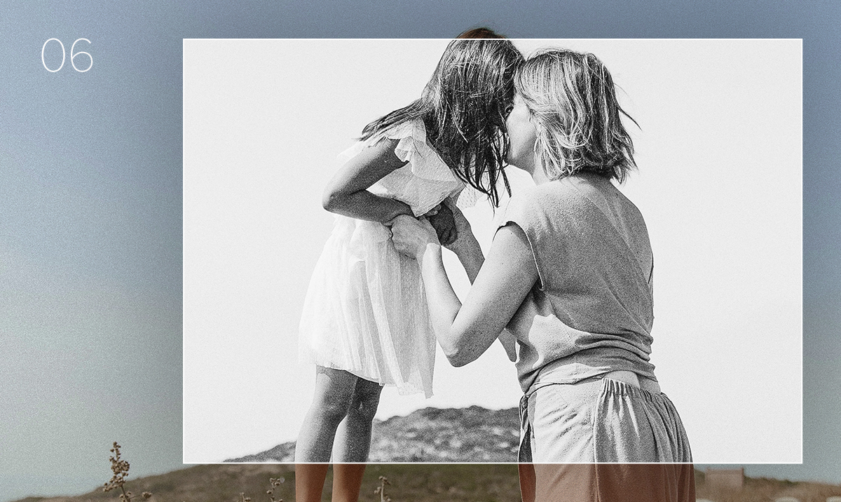 lightroom preset applied to photo of mother and daughter