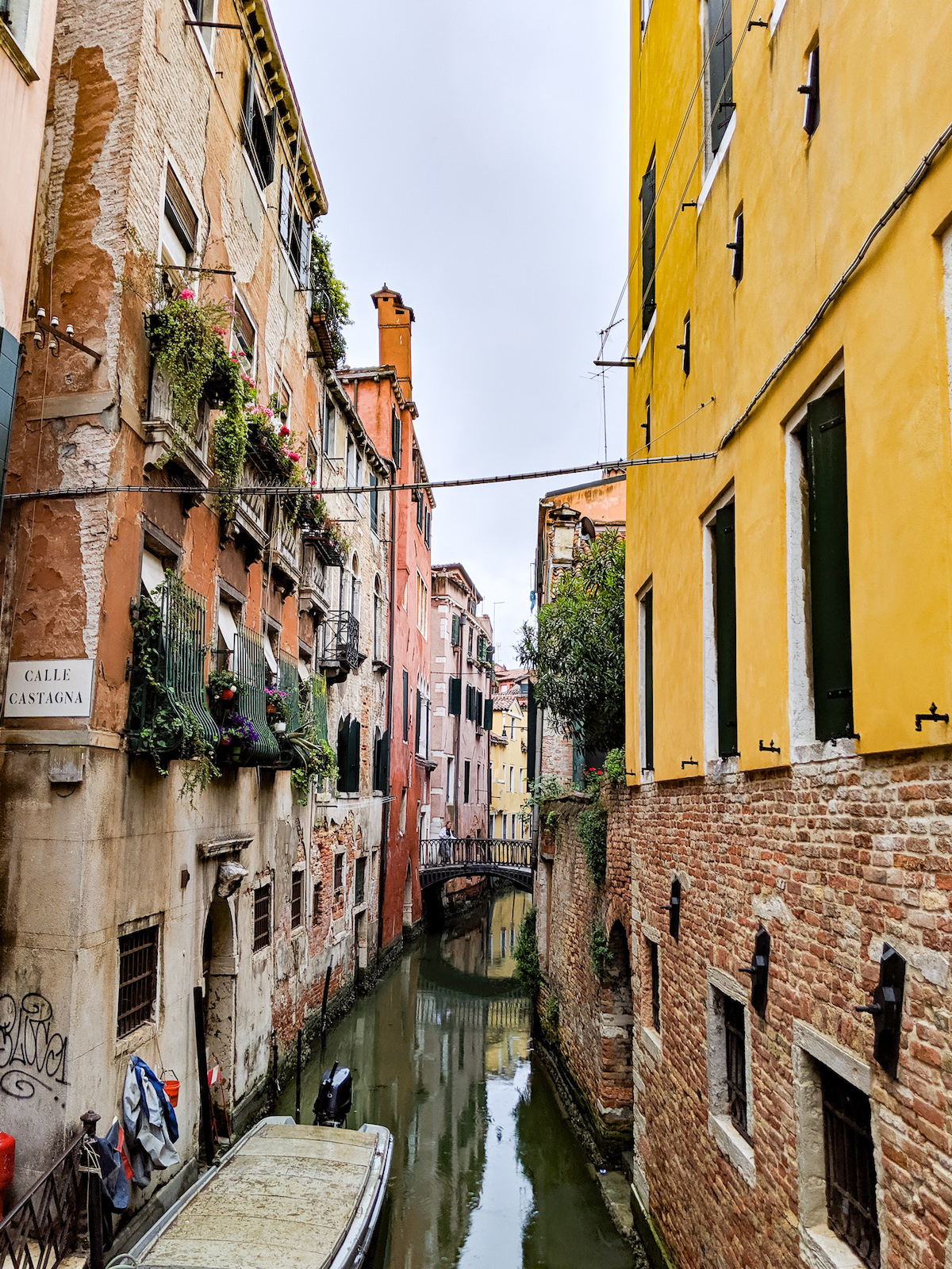 View down an Italian canal