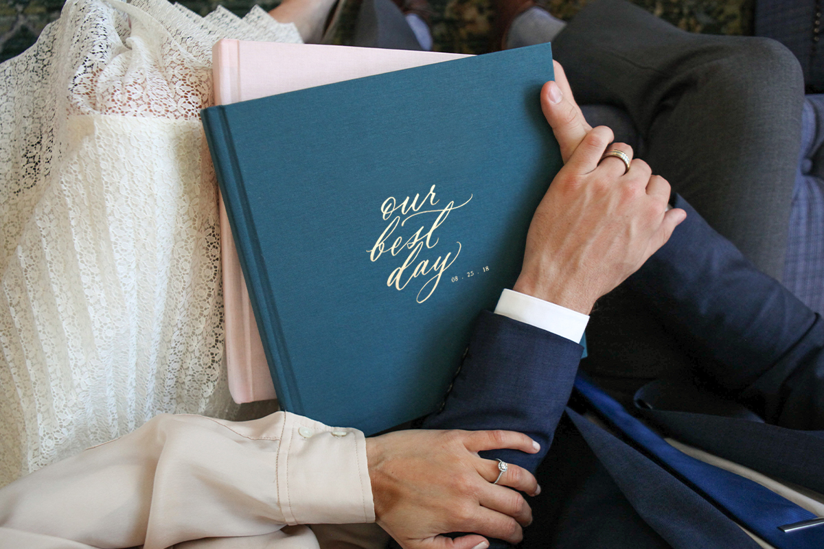 Wedding Layflat Photo Album titled Our Best Day