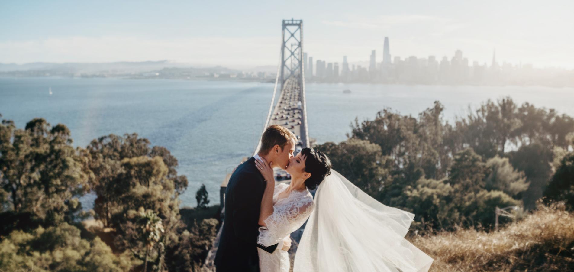 Photo of bride and groom taken using wedding photography tips
