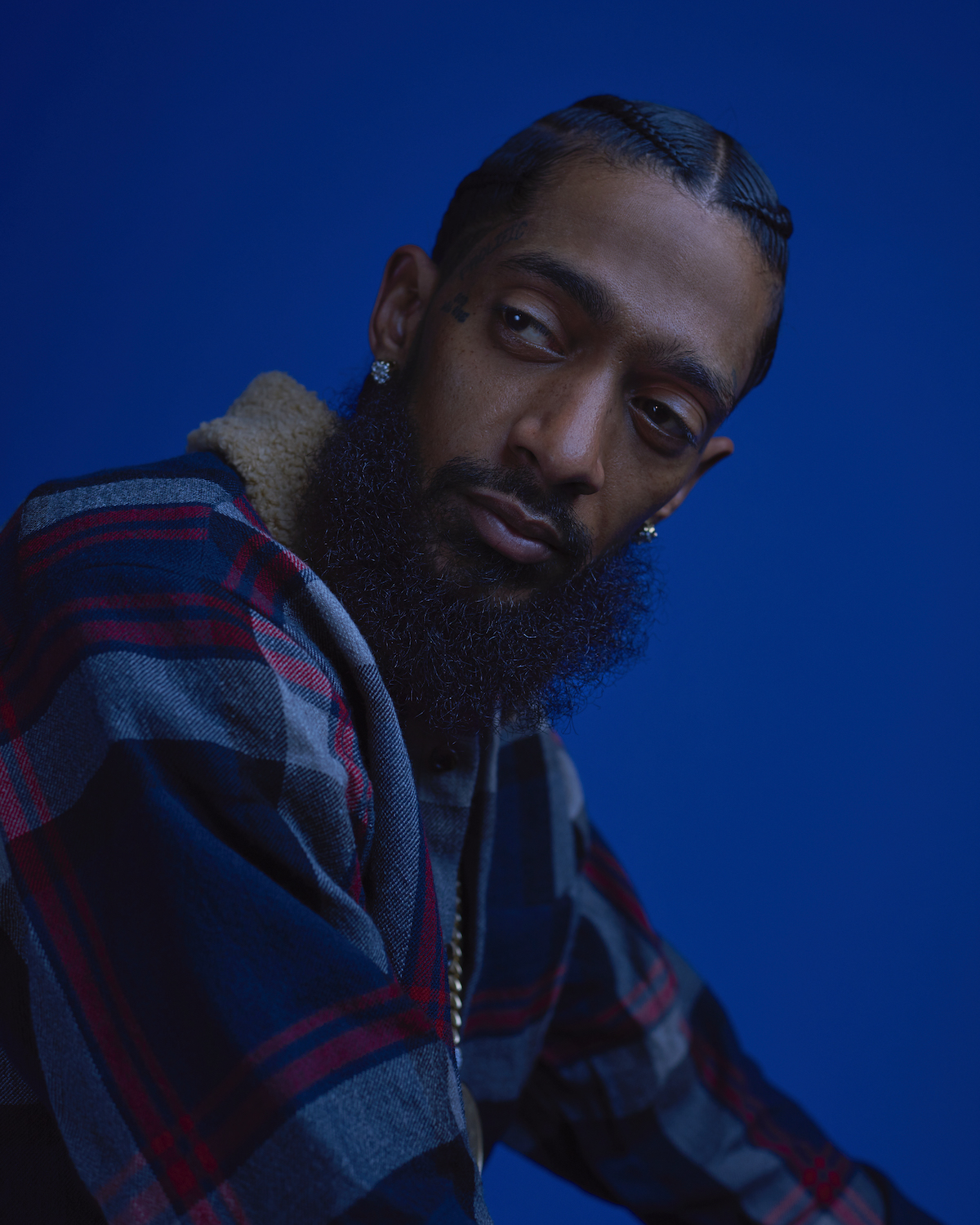 Portrait of Nipsey Hussle by Meron Menghistab