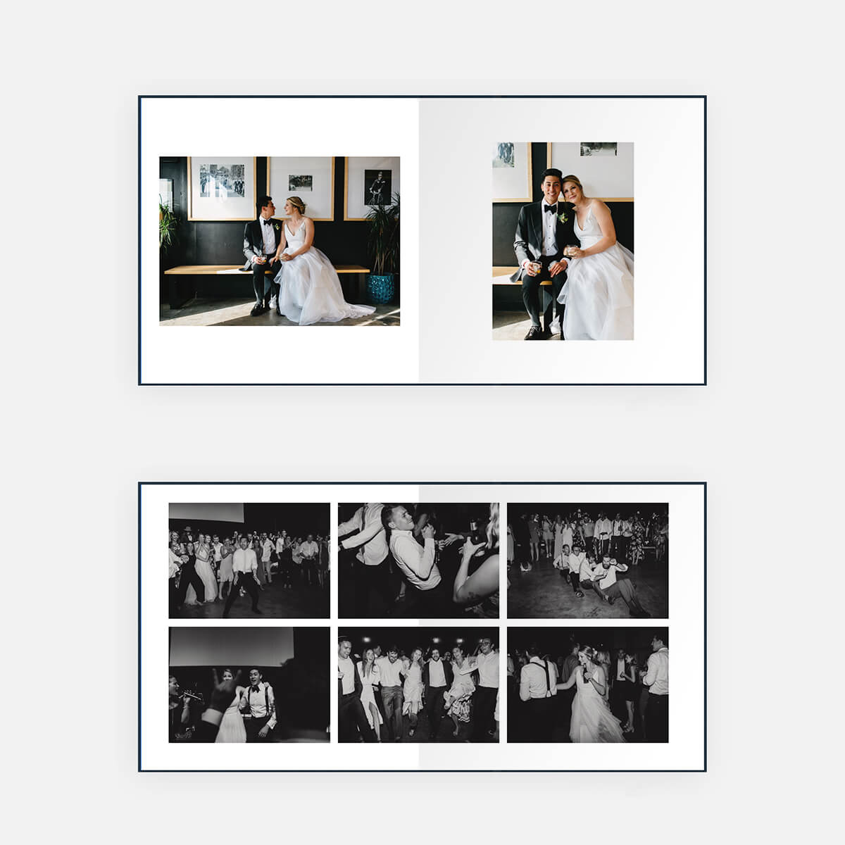 Pages inside of Eliza's Wedding Layflat Album