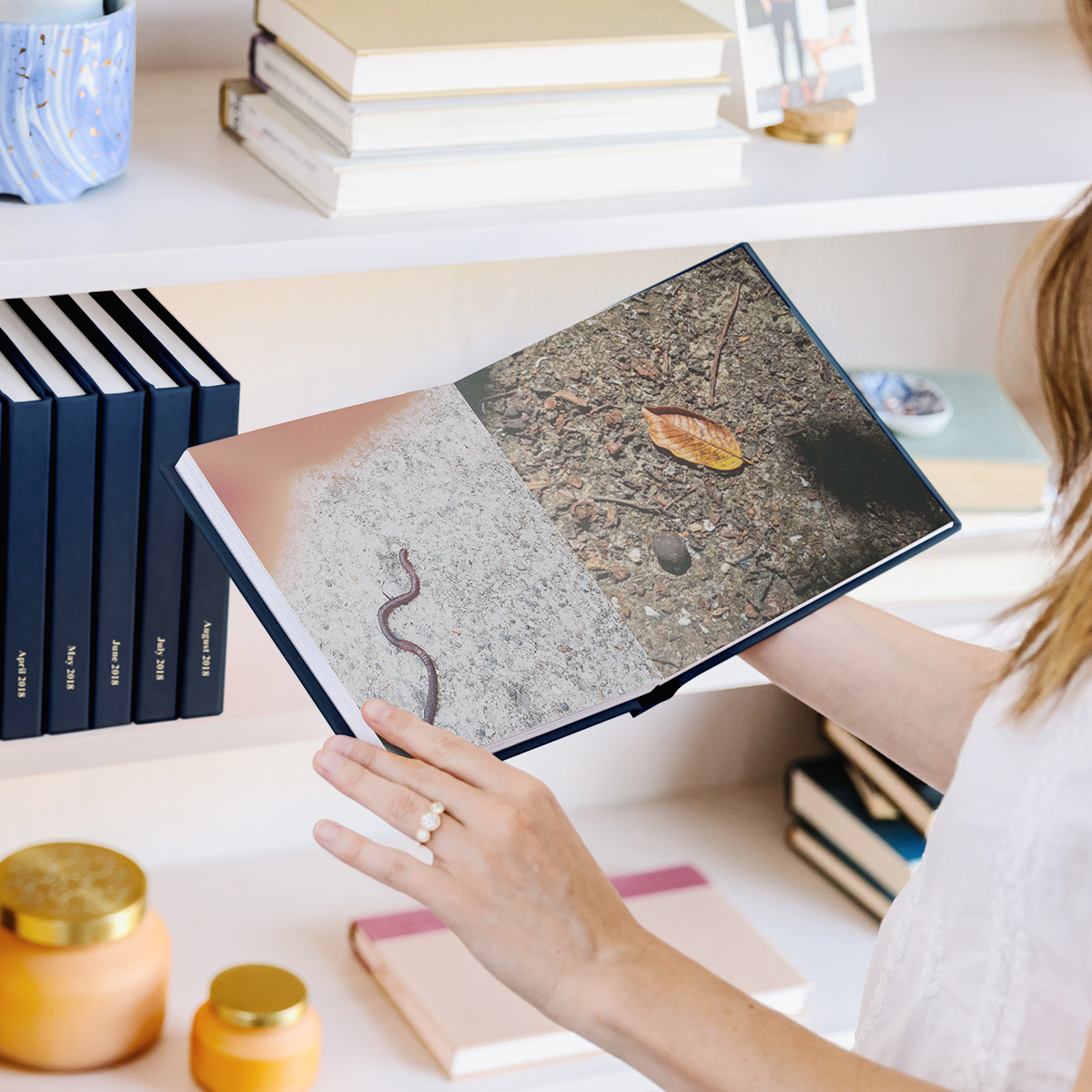 Photos take by a little one printed as a photo book