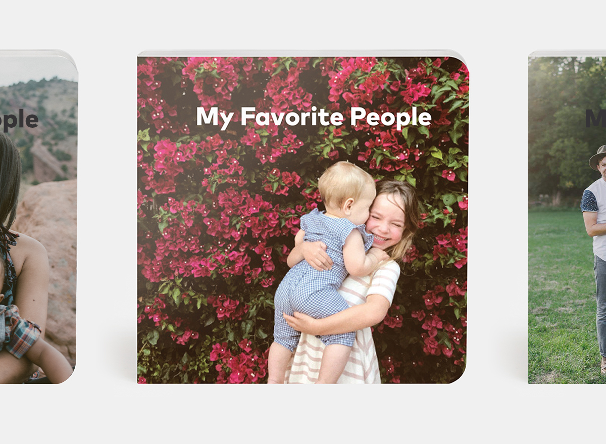 My favorite people theme with young girl holding baby sibling on the cover