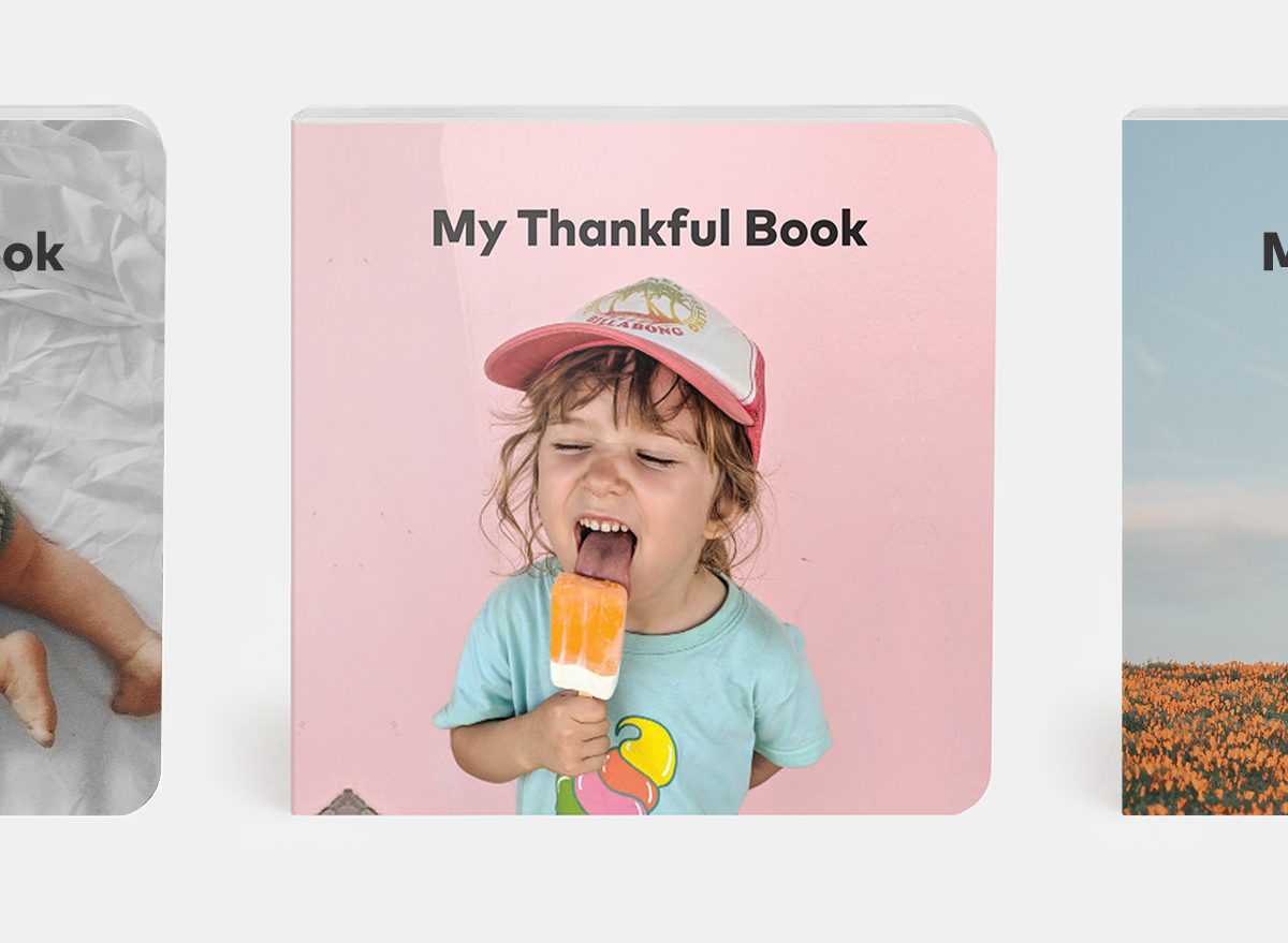 My thankful book theme with little girl enjoying ice cream pop on cover