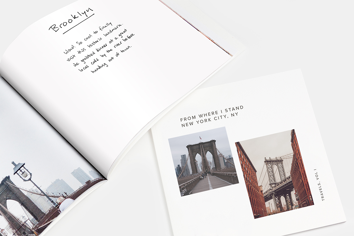Mini Photo Book turned into DIY trravel journal of New York City
