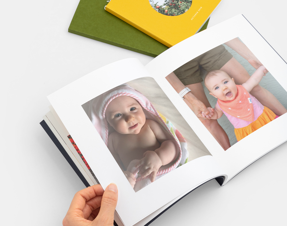Color Series photo book with images of baby taken each month of first year