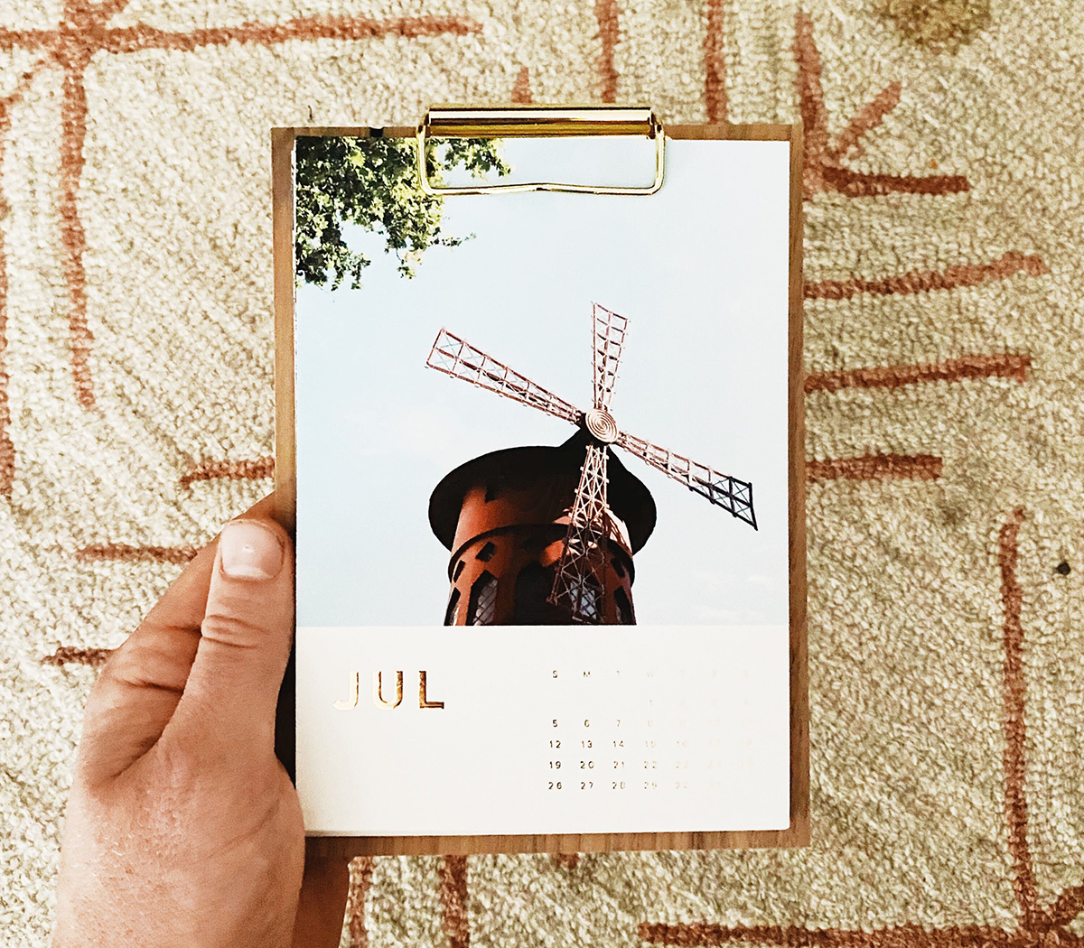 Photo by @b_brynestad of Artifact Uprising Walnut Desktop Calendar featuring photo of old time mill