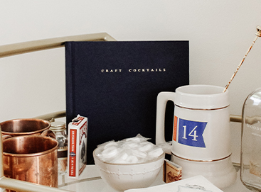 Artifact Uprising Everyday Photo Book turned into a DIY cocktail book