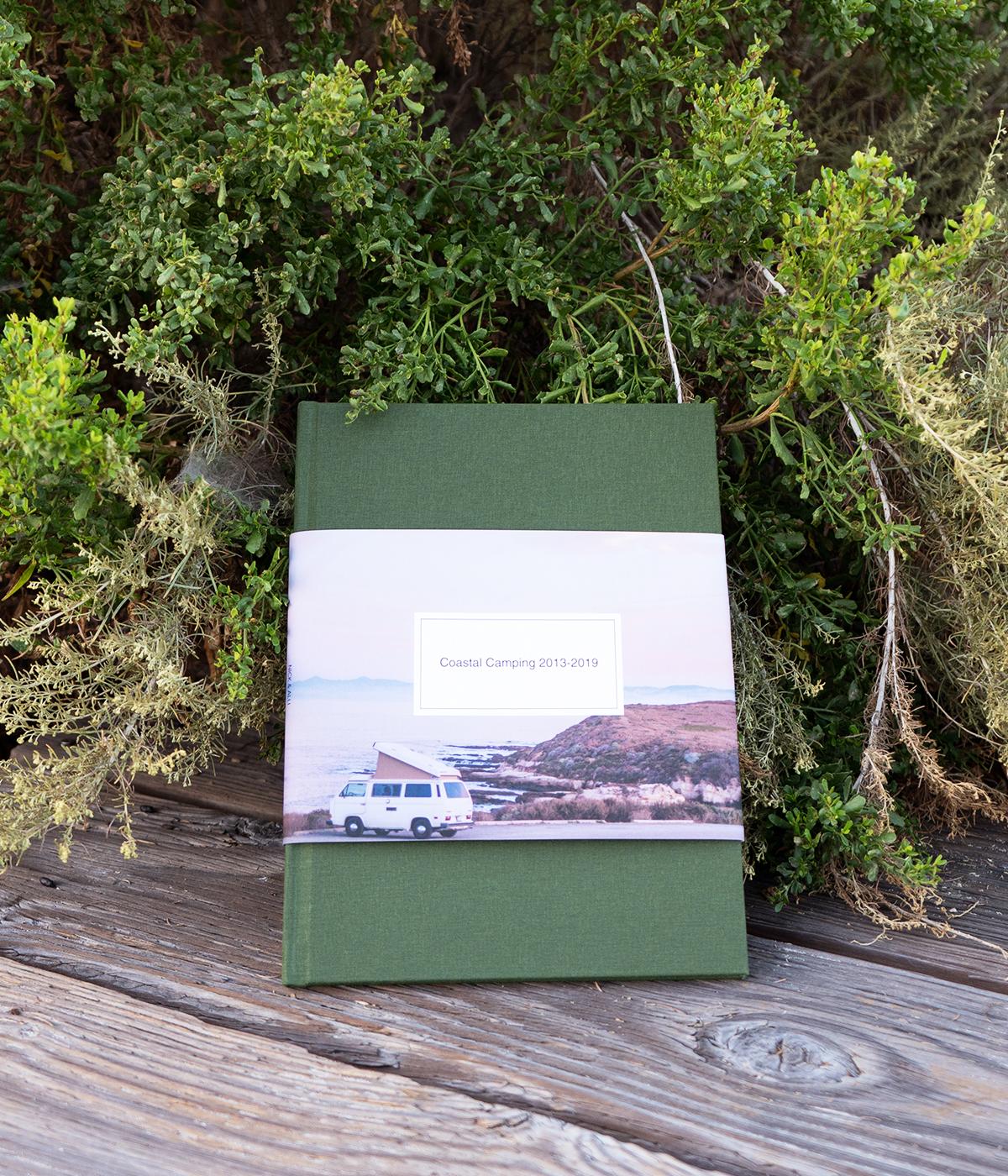 Travel album resting on deck