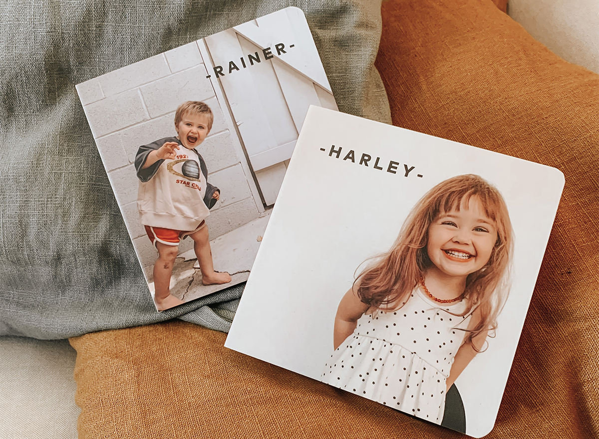Custom Baby Board Books by @thehayleerae
