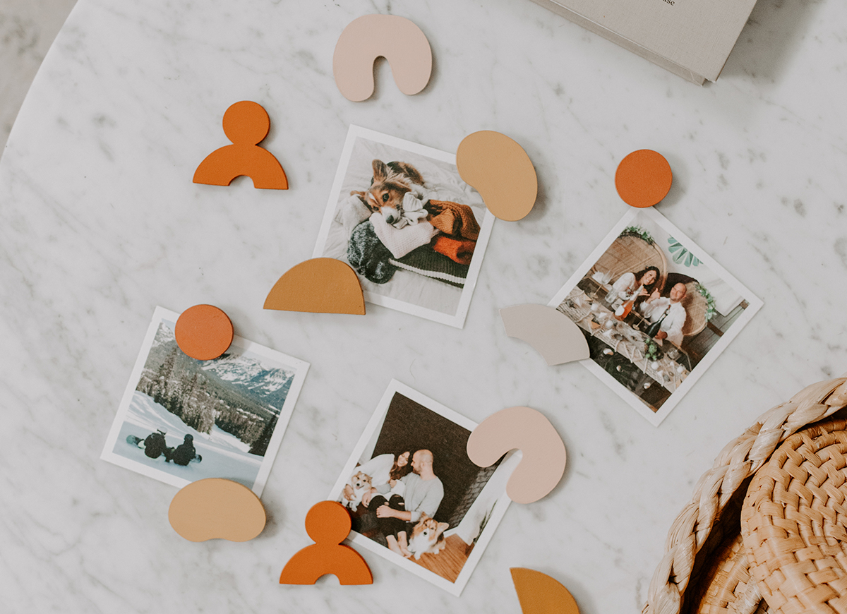 photo by @olivecreativeco of Artifact Uprising photo prints with handmade magnets