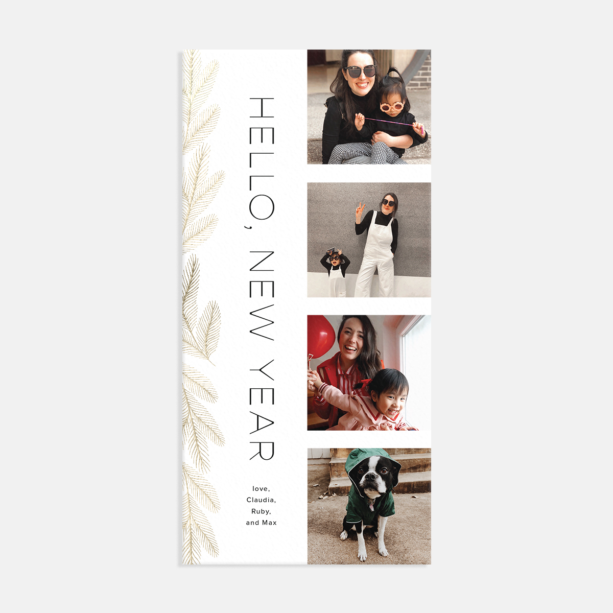 Artifact Uprising Bough Film Strip Holiday Card