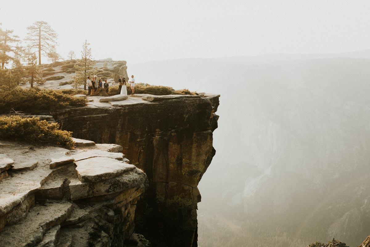 Photo of small wedding reception in Yosemite