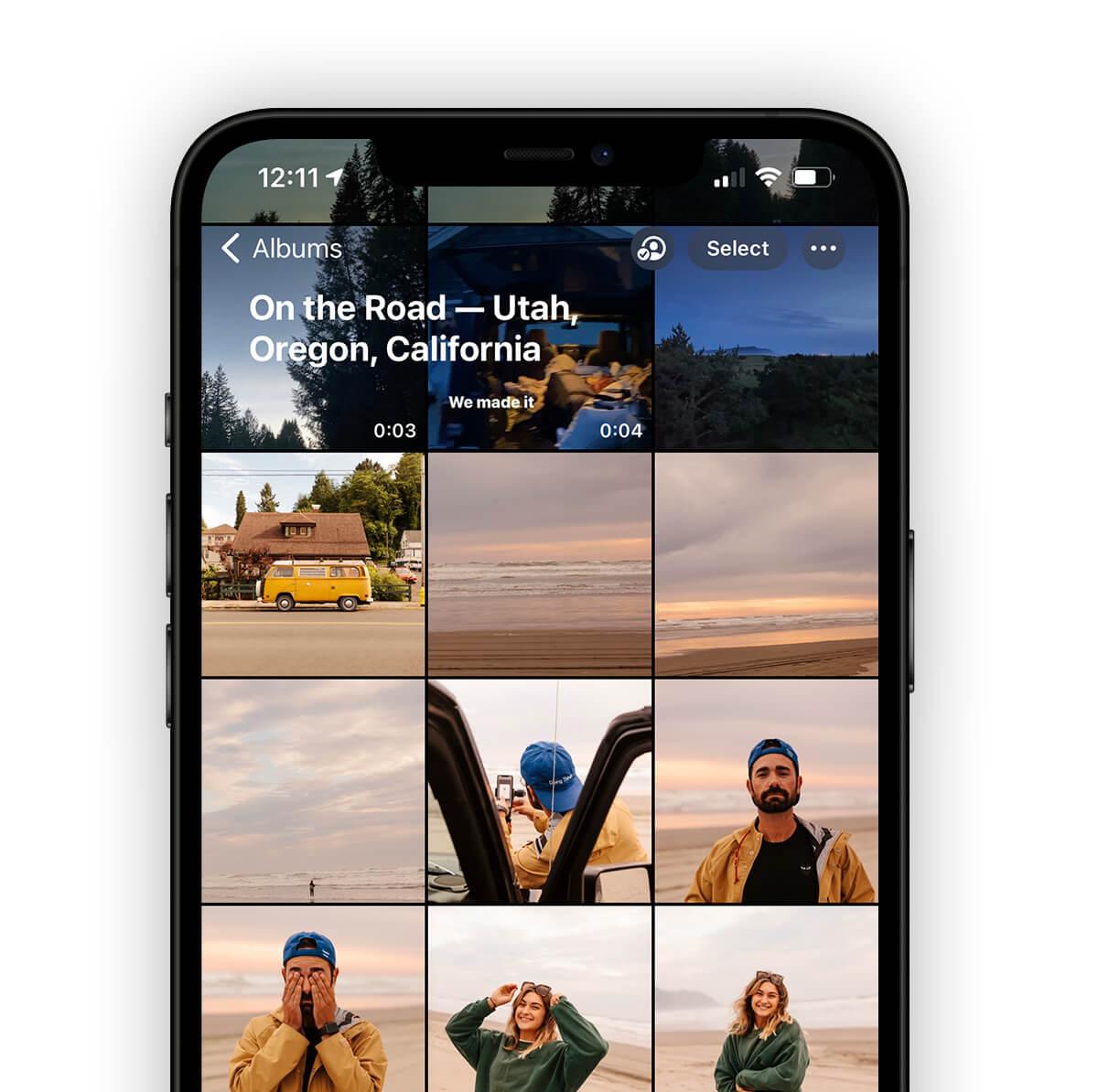 iPhone album of photos by Brandon Lopez