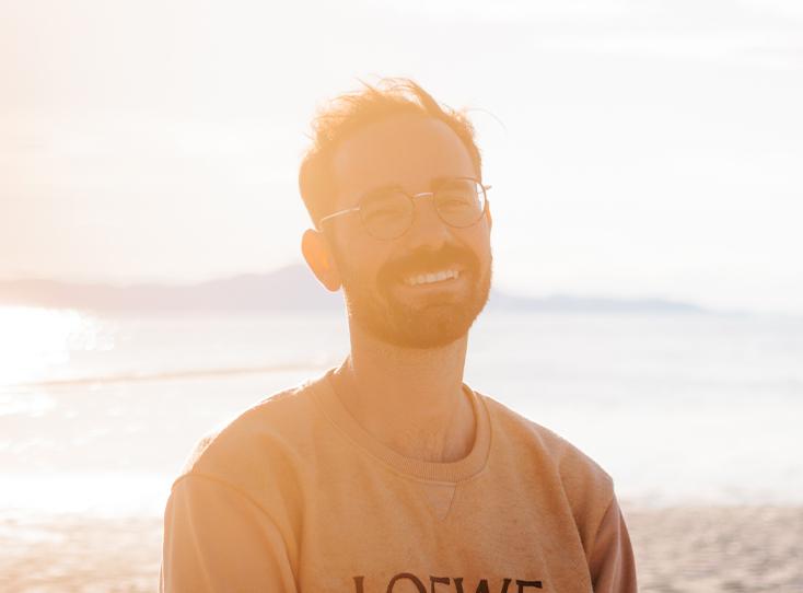 Photo of Brandon laughing