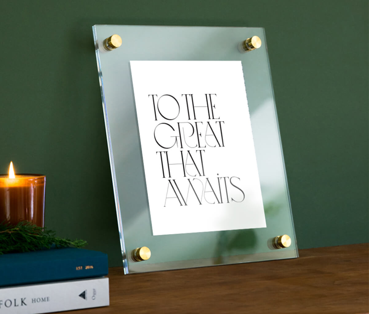Uprising Floating Frame featuring the phrase to the great that awaits