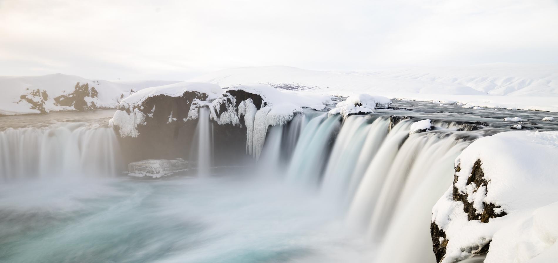 Chris Burkard photo of Arctic waterfall